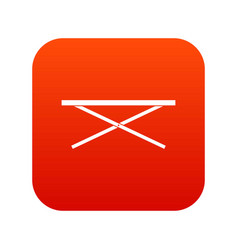 Market counter icon digital red vector
