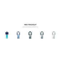 Men tracksuit icon in different style two vector