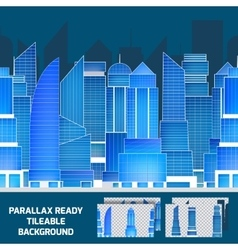 Modern night cityscape tileable parallax vector image
