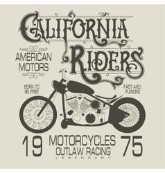 Motorcycle sport emblem vector