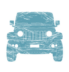 Off - road vehicle front side vector
