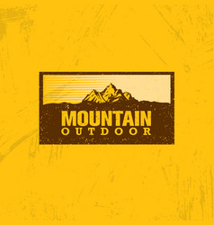 outline logo of mountain landscape line vector image