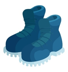 Pair of blue boots icon cartoon style vector image
