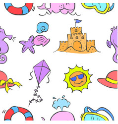 Pattern summer element style collection vector
