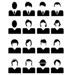 People avatar icons set vector image