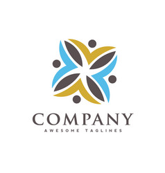 People care community colorful logo vector