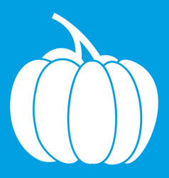 Pumpkin icon white vector