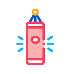 punching bag icon outline vector image