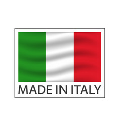 quality mark made in italy colored symbol with vector image