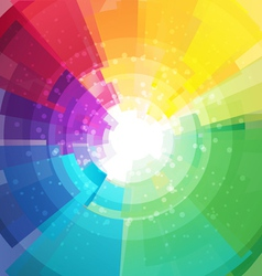 Rainbow bright background with rays4 vector image