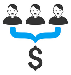 Sales funnel customers flat icon vector