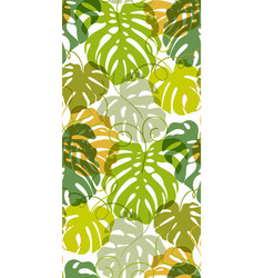 seamless pattern of greenery leaves vector image