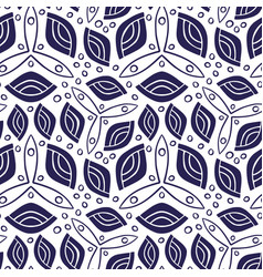 Seamless pattern with folkloric ornament vector