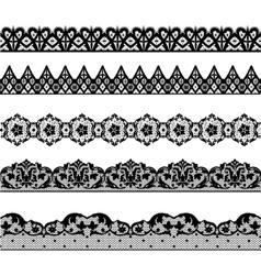 Set lace borders vector image