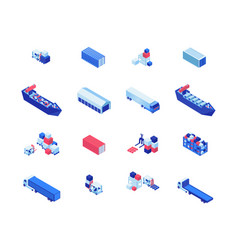 shipping business isometric vector image