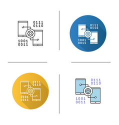 smartphone settings icon vector image