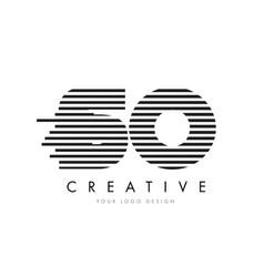 so s o zebra letter logo design with black and vector image