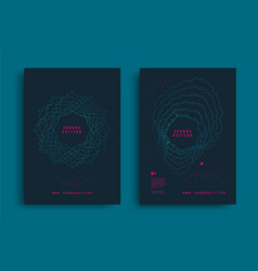 Sounds pattern flyer design with circular shape vector