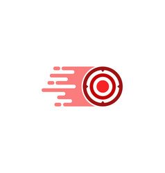 speed target logo icon design vector image