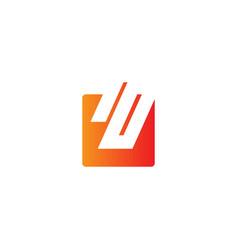 square shape business logo vector image