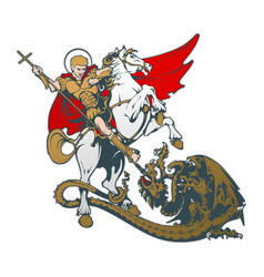 st george on horseback vector image