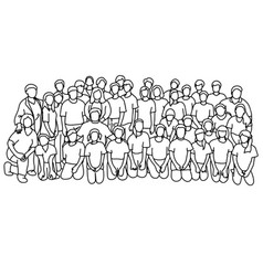 students in school class with their teachers vector image
