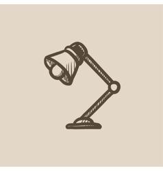 Table lamp sketch icon vector