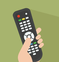 TV remote pointed at screen vector image