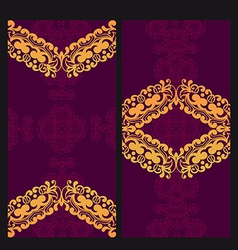 Victorian Lace Card vector image
