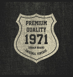 vintage denim typography grunge t-shirt graphics vector image