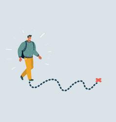 walking pedestrian vector image
