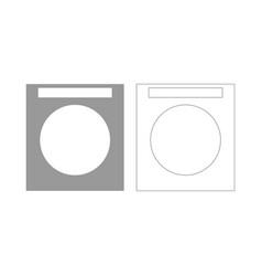 Washing machine set icon vector
