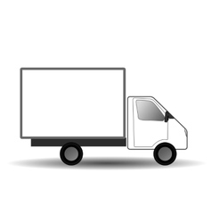 White city truck vector image