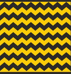 zig zag tile chevron seamless black and yellow vector image