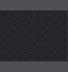 black line geometry seamless pattern vector image vector image