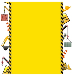 Construction Frame with Machinery vector image