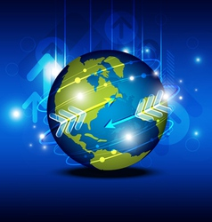 globalization technology vector image vector image