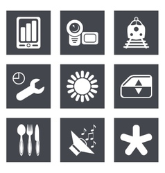 Icons for Web Design set 50 vector image vector image