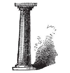 pillar monument vintage engraving vector image vector image