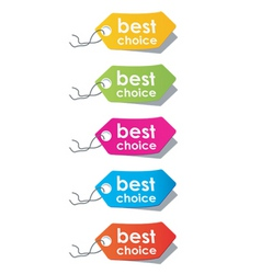 price tags vector vector image vector image