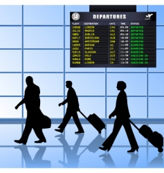 airport set 1 passengers departing vector image