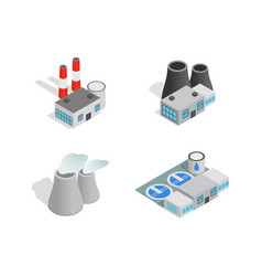 factory icon set isometric style vector image
