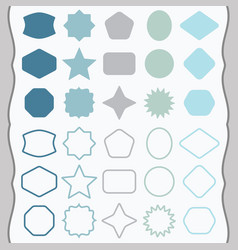 matte silhouette and line design elements icon set vector image vector image