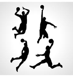 Basketball players collection vector image