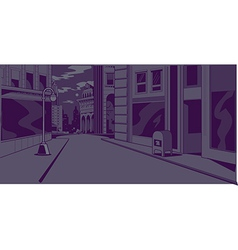 Comics Night City Street Scene vector image vector image