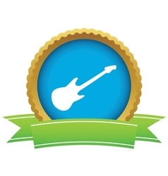 Guitar certificate icon vector