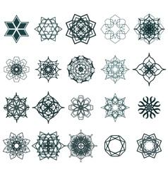 Ramadan Kareem geometric ornamental signs vector image
