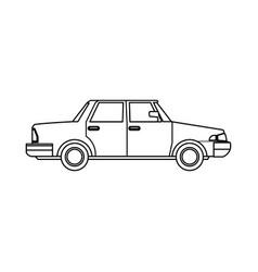 sedan car vehicle transport image outline vector image vector image
