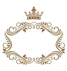 Elegant royal frame vector