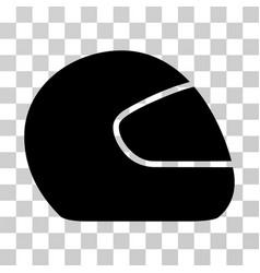 motorcycle helmet icon vector image